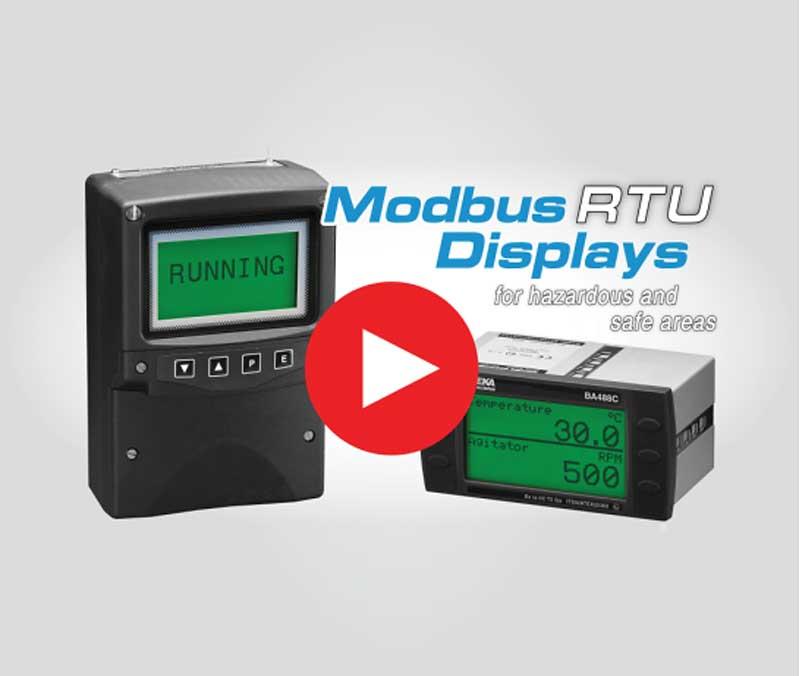 MODBUS Operatørpanel for EX-område og sikkert område.